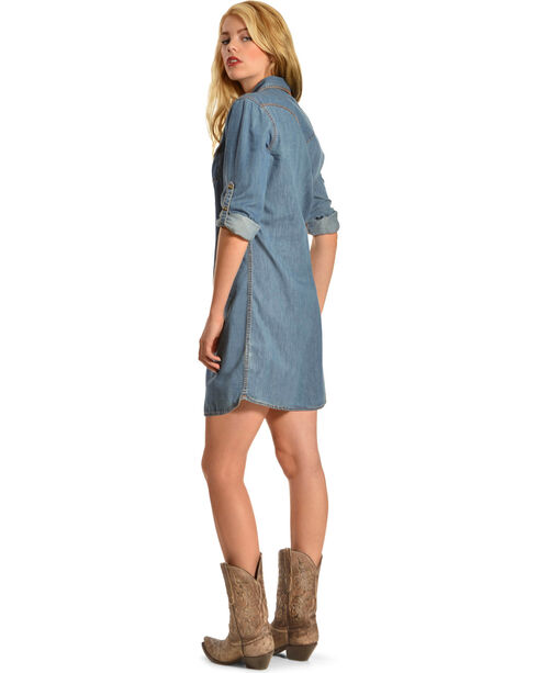 Ryan Michael Women's Lily Whipstitch Dress, Denim, hi-res
