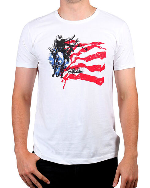 Cody James® Men's American Rodeo Rider Graphic Tee, White, hi-res