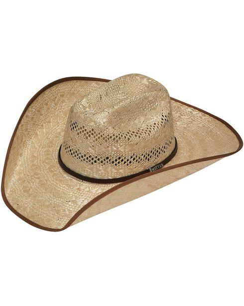 Twister 8X Shantung Maverick Bound Brim Straw Cowboy Hat, Tan, hi-res