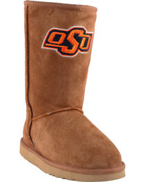 Gameday Boots Women's Oklahoma State University Lambskin Boots, , hi-res