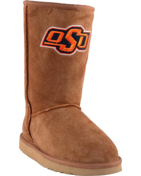 Gameday Boots Women's Oklahoma State University Lambskin Boots, Tan, hi-res