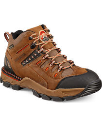 Red Wing Irish Setter Brown Orange Two Harbors HIker Work Boots - Aluminum Toe  , , hi-res