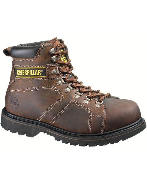 CAT Men's Silverton Work Boots, Dark Brown, hi-res
