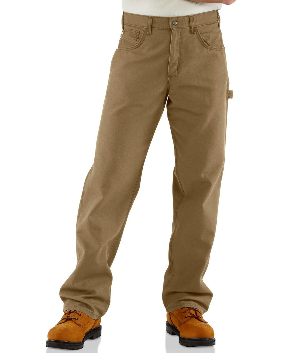 Carhartt Men's Flame-Resistant Relaxed Fit Work Pants, Khaki, hi-res