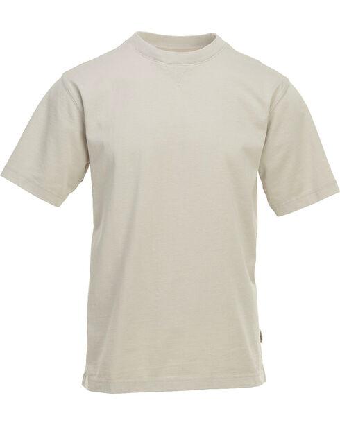 Woolrich Men's First Forks Solid T-Shirt , Sand, hi-res