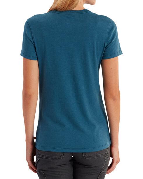Carhartt Women's Lockhart Short Sleeve V-Neck Tee, Blue, hi-res