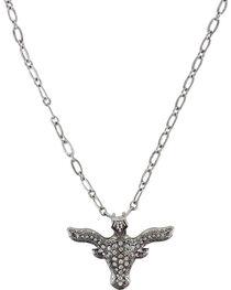 Shyanne® Women's Rhinestone Longhorn Necklace , , hi-res