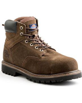 "Dickies Men's Brown 6"" Prowler Work Boots - Steel Toe, Brown, hi-res"