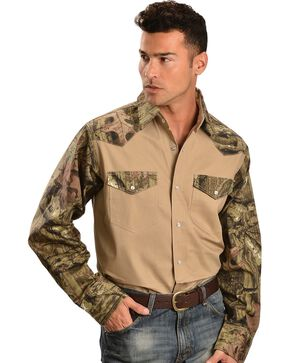 Exclusive Gibson Trading Co. Camouflage Work Shirt, Khaki, hi-res