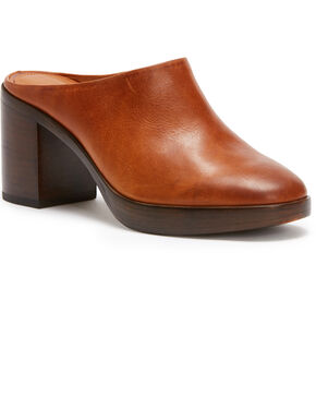 Frye Women's Dark Brown Joan Campus Mules - Round Toe, Dark Brown, hi-res