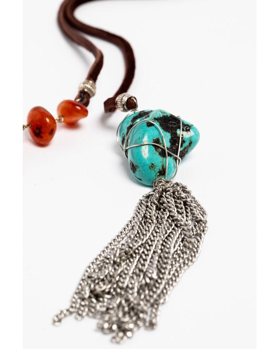 AndWest Women's Nighttail Tassel Necklace , Brown, hi-res