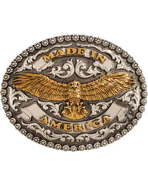 Cody James Men's Made In America Belt Buckle, Silver, hi-res