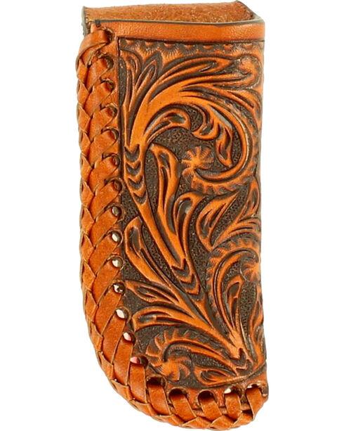 Nocona Western Laced Leather Knife Sheath , Tan, hi-res