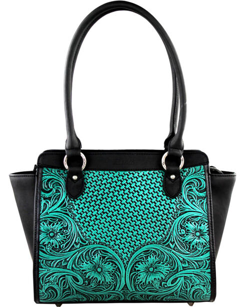 Montana West Turquoise Delila 100% Genuine Leather, Turquoise, hi-res