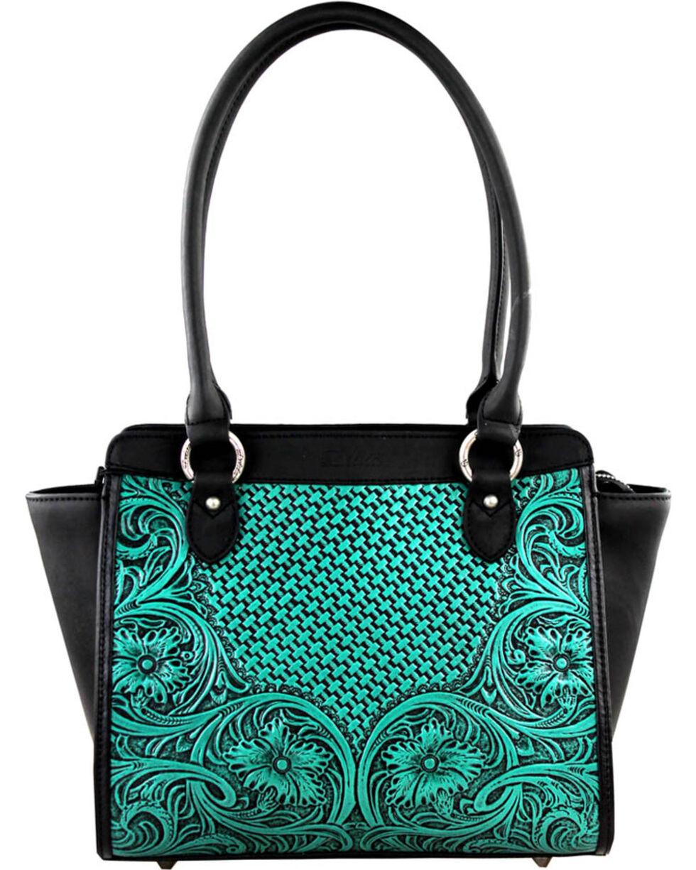 Montana West Turquoise Delila 100% Genuine Leather, Turquoise, hi-res