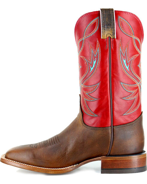 Justin Men's Two Toned Square Toe Western Boots, Brown, hi-res