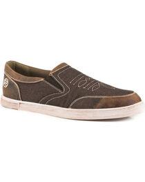 Roper Men's Brown Vagabond Slip-On Shoes , , hi-res