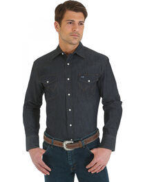Wrangler Denim Advanced Comfort Work Shirt, , hi-res