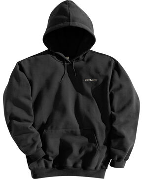 Carhartt Men's Midweight Hooded Pullover Sweatshirt, Black, hi-res