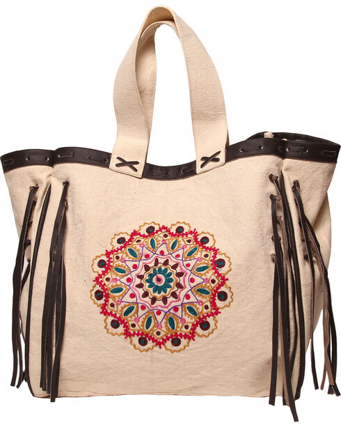 ále by Alessandra Women's Mandala Oversized Tote , Natural, hi-res