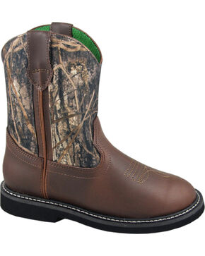 Smoky Mountain Youth Boys' Hickory Wellington Western Boots - Round Toe, Camouflage, hi-res