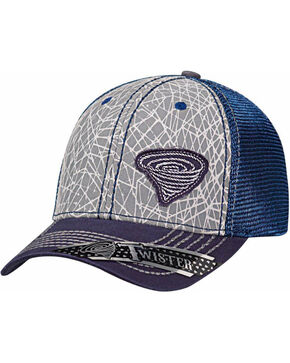 Twister Men's Navy Mesh Back Rope Logo Baseball Cap , Navy, hi-res