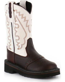 Cody James® Toddler's Round Toe Crepe Western Boots, , hi-res