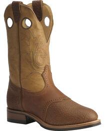 """Boulet Men's 12"""" Saddle Vamp Super Roper Boots, , hi-res"""