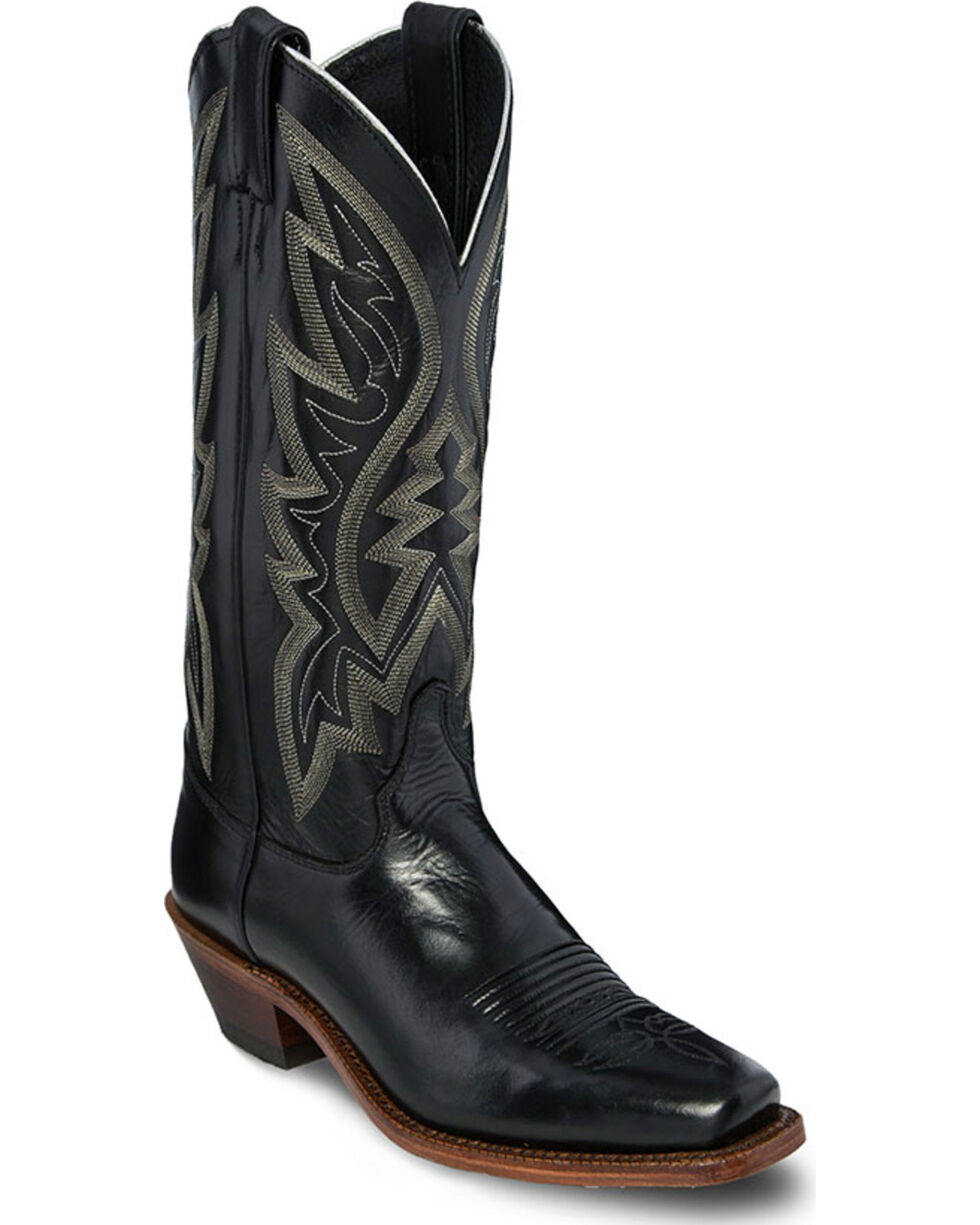 Justin Women's Chester Bent Rail Western Boots, Black, hi-res