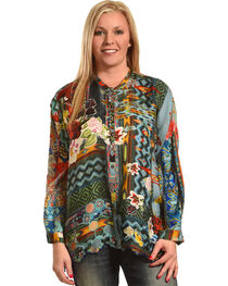 Johnny Was Women's Canvas Printed Silk Twill Tunic , , hi-res