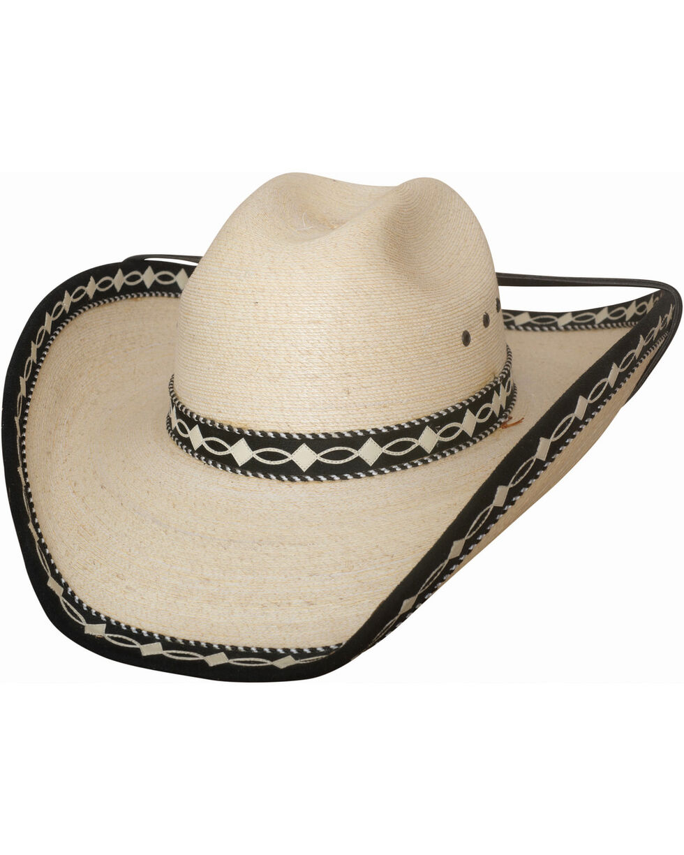 Bullhide Custom Made Palm Leaf Cowboy Hat , Natural, hi-res