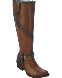 Corral Women's Zipper Tall Riding Boots, , hi-res