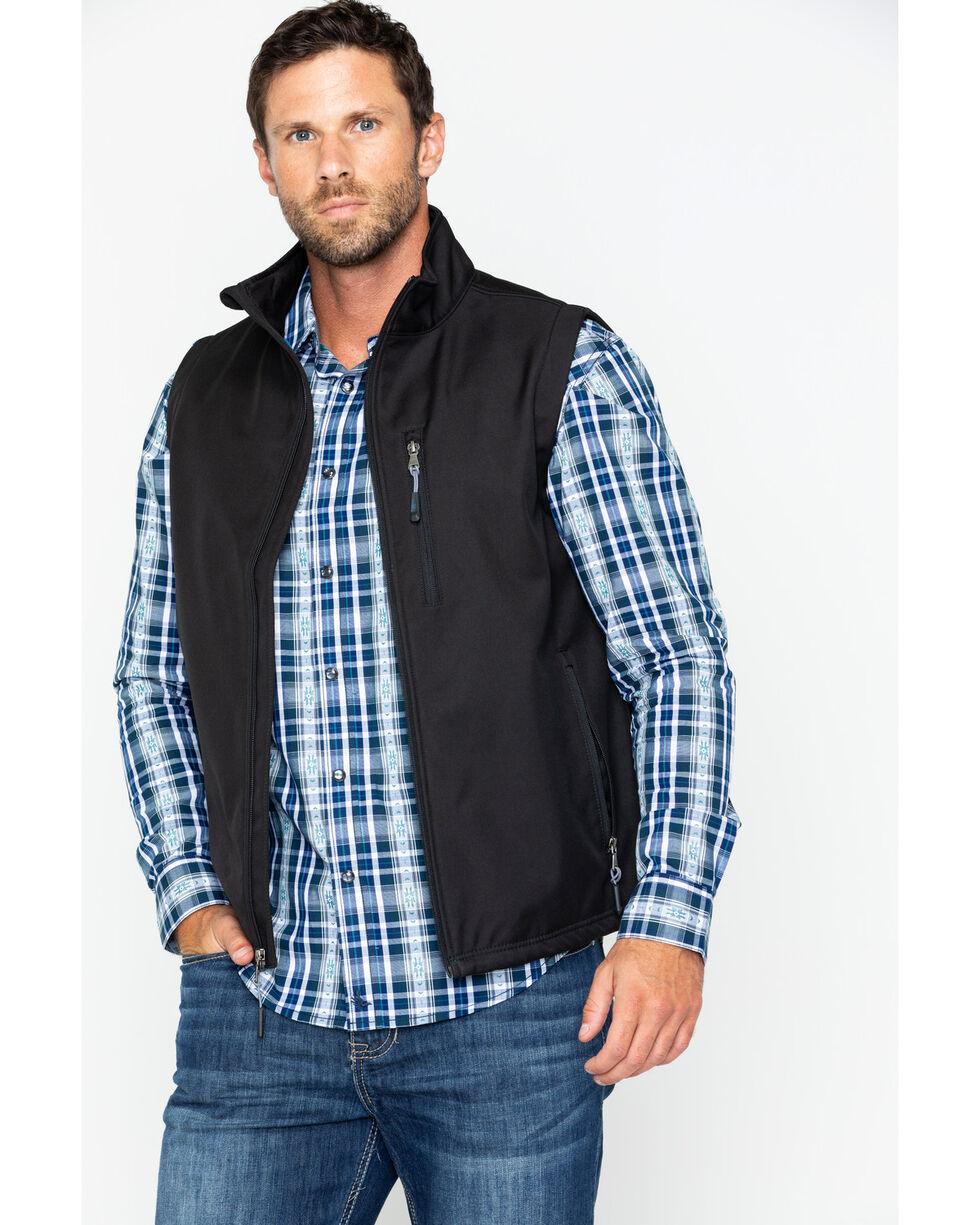 Cody James Men's Black Zip Vest, Black, hi-res