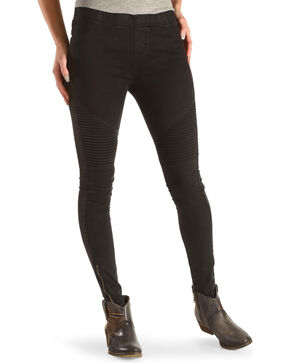 Fornia Women's Moto Ankle Zip Leggings, Black, hi-res