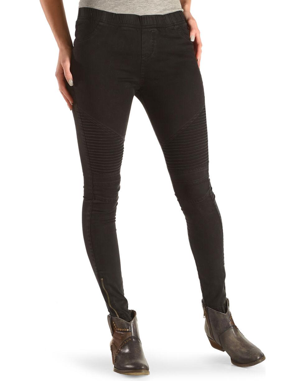 Fornia Women's Moto Ankle Zip Leggings, Black, hi-res