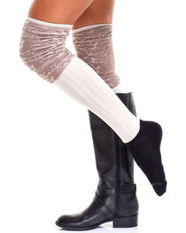 Bootights Women's Marble Trim Boot Socks, , hi-res