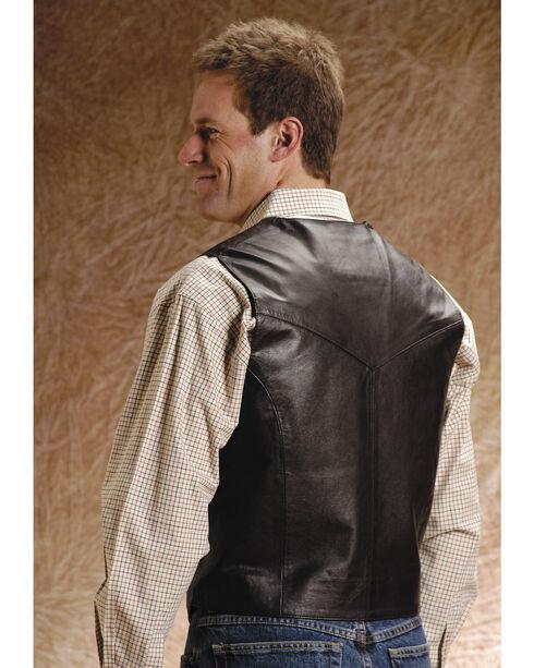 Roper Men's Leather Vest - Big and Tall, Brown, hi-res