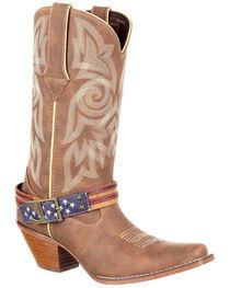 Durango Women's American Flag Buckle Western Boots, , hi-res