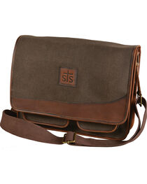 STS Ranchwear Foreman Dark Canvas Messenger Bag, , hi-res