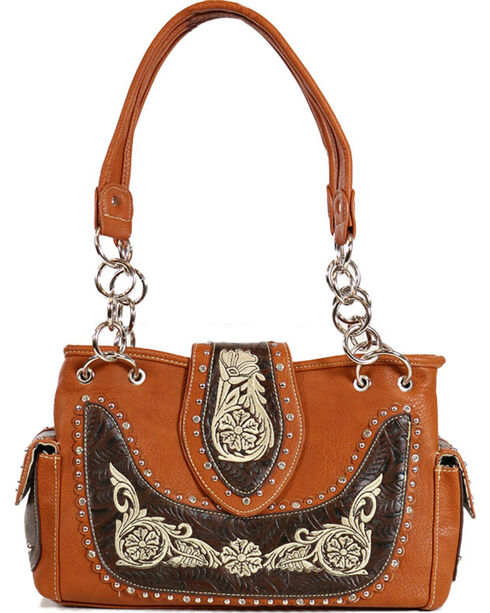 Savana Women's Embroidered Handbag, Multi, hi-res