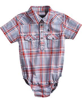 Cody James Infant Boys' Rader Short Sleeve Onesie, Red, hi-res