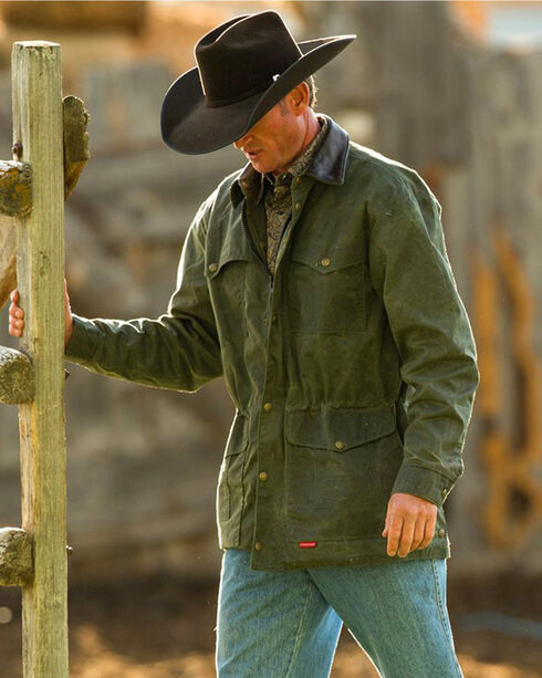 Schaefer Outfitter Men's Loden Rangewax High Plains Drifter Jacket - Big 2X , Olive, hi-res