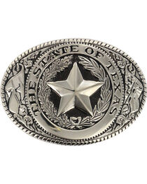 M&F Western Men's Silver State of Texas Seal Buckle , , hi-res