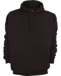 Berne Original Fleece Hooded Pullover - 3XL and 4XL, Black, hi-res