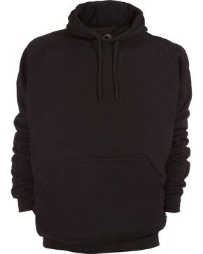 Berne Original Fleece Hooded Pullover - 3XL and 4XL, Black, hi-res