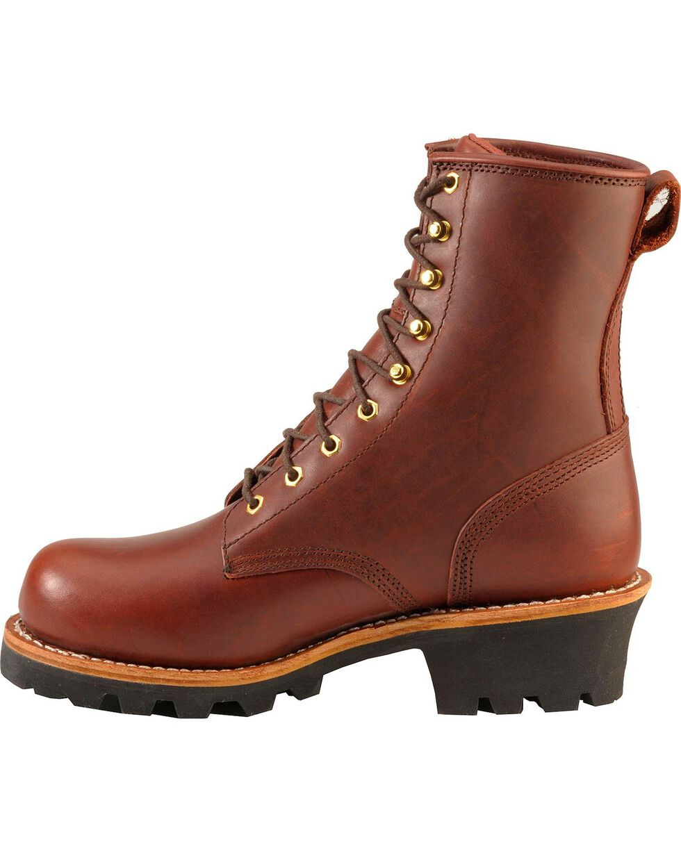 Chippewa Men's Insulated Steel Toe Logger Work Boots, Redwood, hi-res