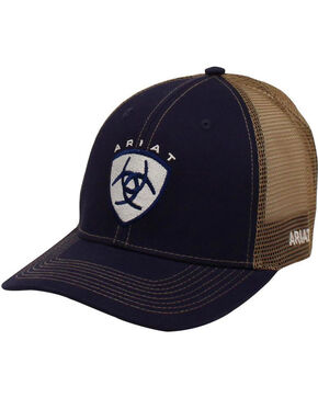 Ariat Men's Navy Center Logo Baseball Cap , Navy, hi-res