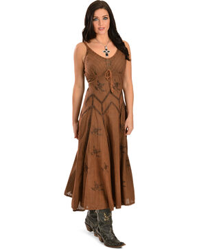 Scully Women's Long Spaghetti Strap Dress, Copper, hi-res
