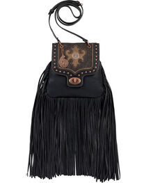 Bandana Women's Winslow Crossbody Flap Bag, Black, hi-res