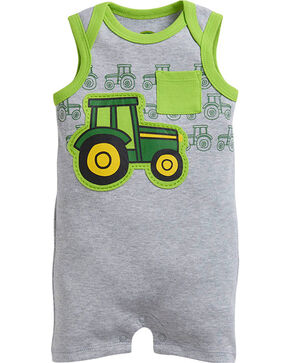 John Deere Infants' Tractor Romper, Grey, hi-res